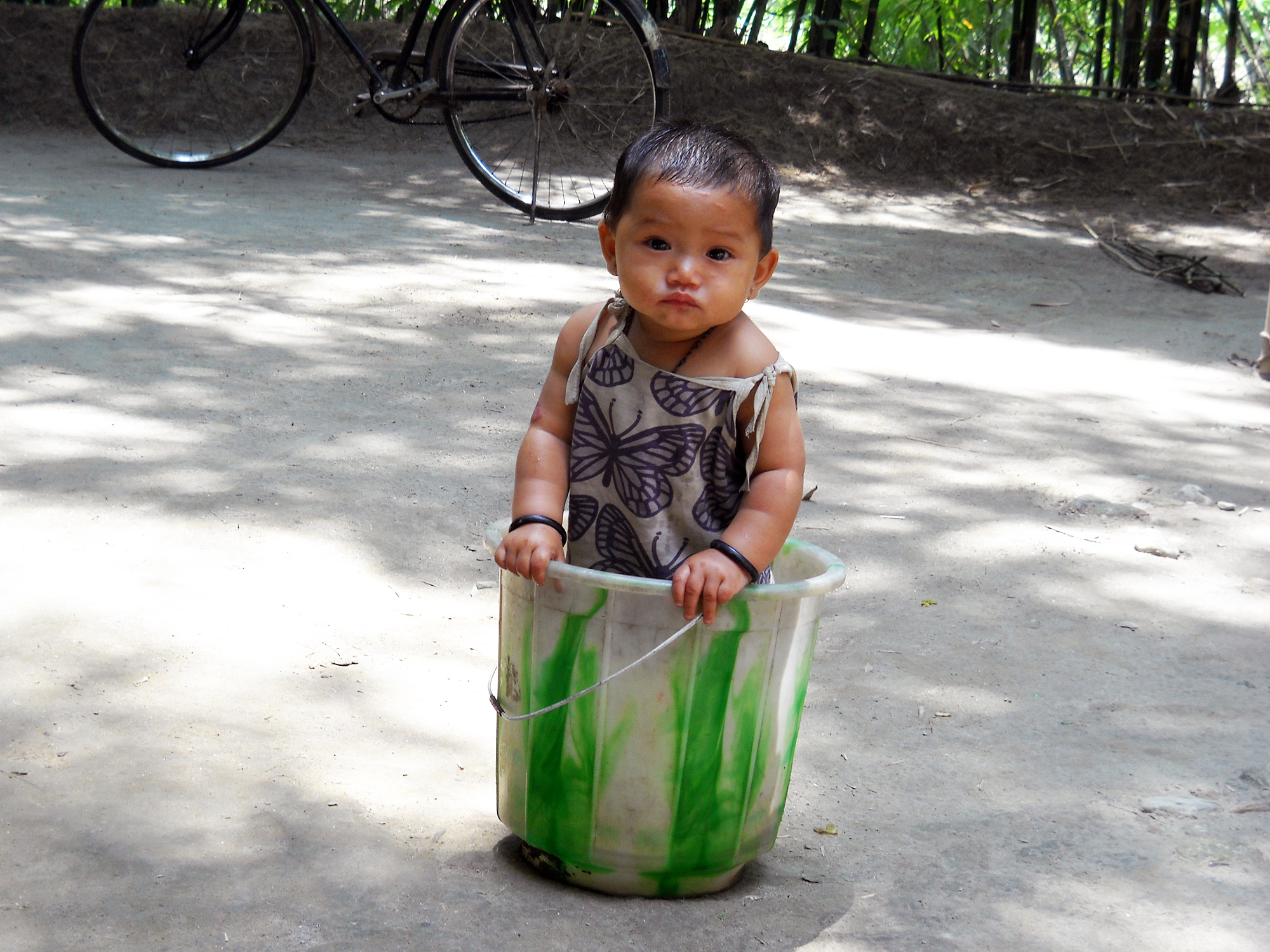 Child in a Bucket