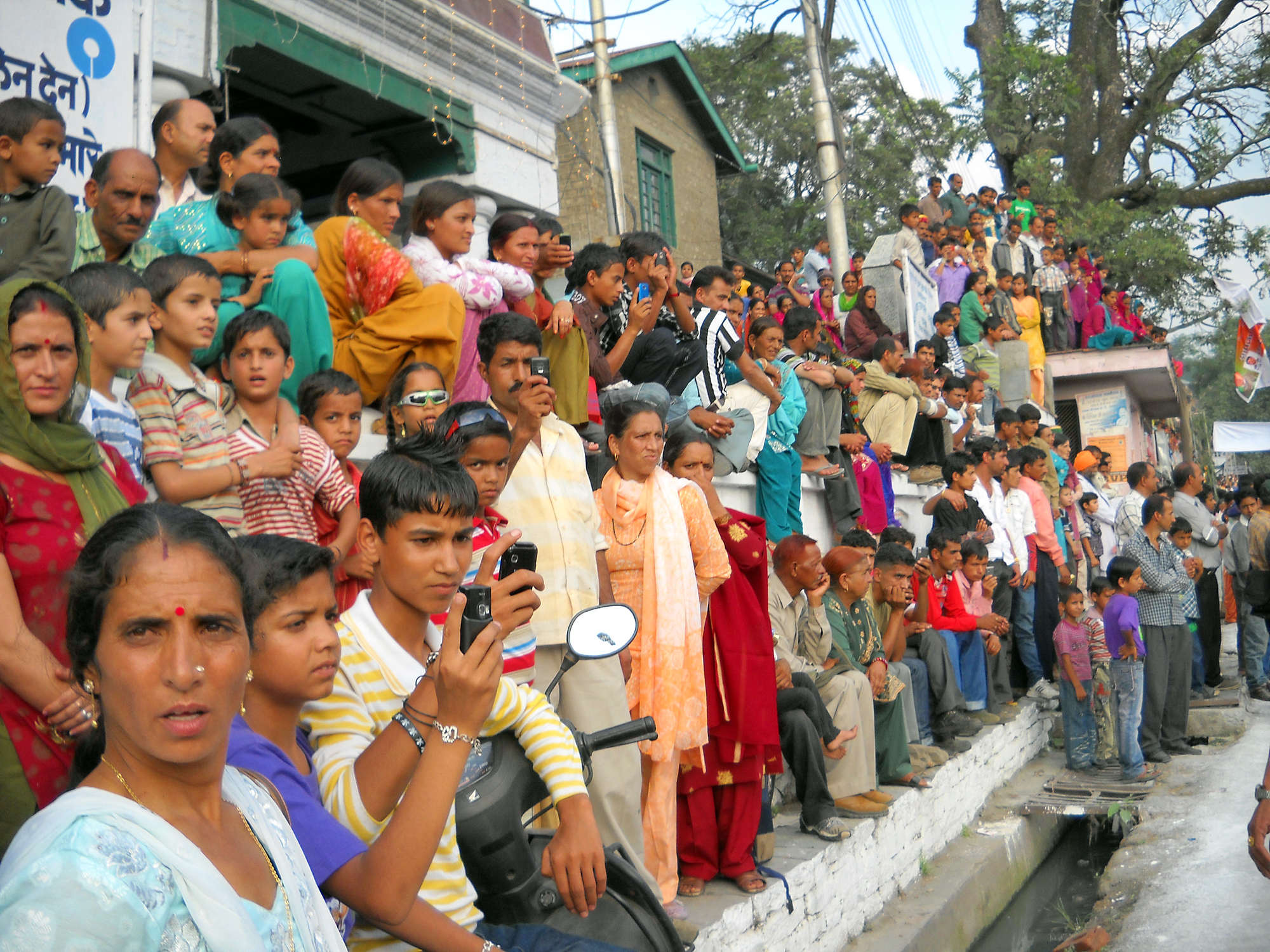 Onlookers during the Minjar Festival in Chamba, Himachal Festival