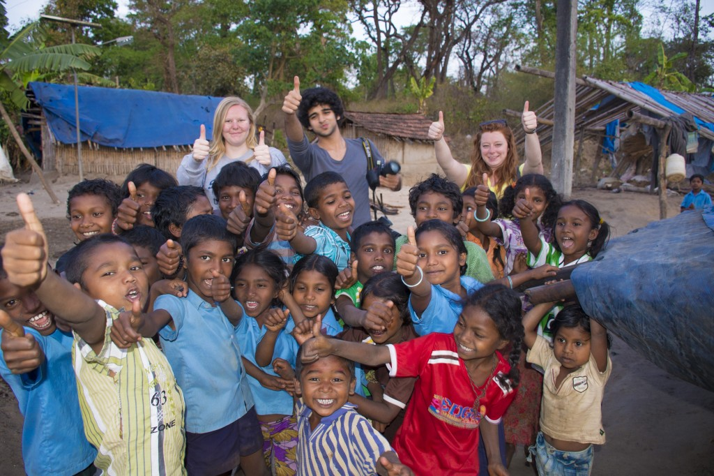 CLIC Abroad gets thumbs up from children in Southern India.